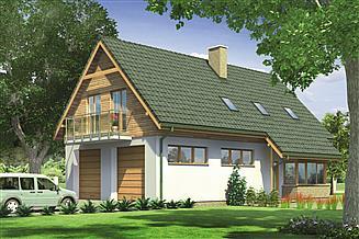 Projekt magazynu Murator GM07a Budynek garażowo-magazynowy z poddaszem mieszkalnym