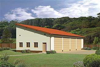 Projekt garażu Murator GMC01a Budynek garażowo-magazynowy