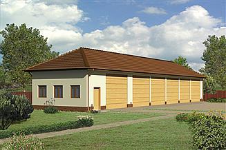 Projekt garażu Murator GMC03b Budynek garażowo-magazynowy