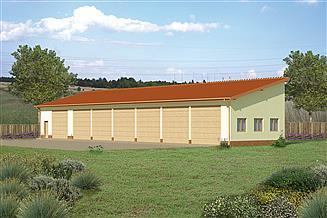 Projekt garażu Murator GMC07a Budynek garażowo-magazynowy