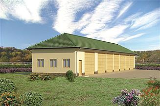 Projekt garażu Murator GMC07b Budynek garażowo-magazynowy