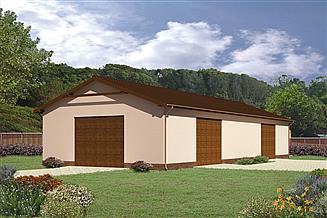 Projekt magazynu Murator GMC04 Budynek garażowo-magazynowy