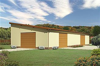 Projekt magazynu Murator GMC04a Budynek garażowo-magazynowy