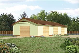 Projekt magazynu Murator GMC04d Budynek garażowo-magazynowy