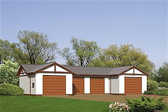 Projekt garażu Murator GM02 Budynek garażowo-magazynowy