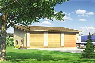 Projekt garażu Murator GMC20 Budynek garażowo-magazynowy
