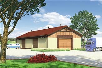 Projekt magazynu Murator GMC15 Budynek garażowo-magazynowy