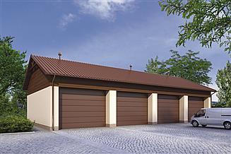 Projekt garażu Murator GMC25 Budynek garażowo-magazynowy