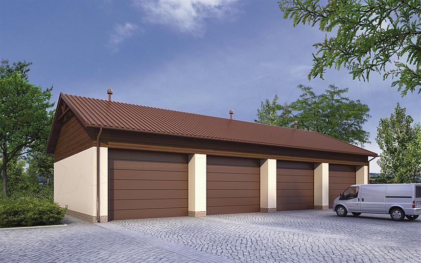 Projekt Domu Murator Gmc25 Budynek Garażowo Magazynowy Domiportapl