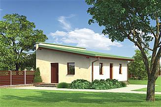 Projekt budynku gospodarczego Murator G32c Budynek gospodarczy