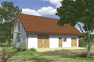 Projekt budynku inwentarskiego Murator IG02 Budynek inwentarsko-gospodarczy