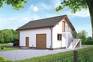 Projekt budynku inwentarskiego Murator IGC04 Budynek inwentarsko-gospodarczy