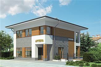 Projekt sklepu Murator U15d Budynek mieszkalno-usługowy