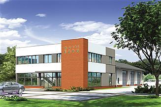 Projekt warsztatu Murator U24 Budynek usługowy