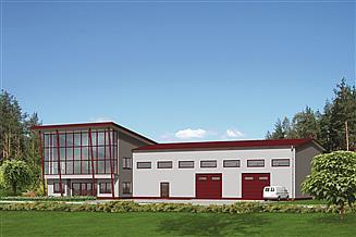 Projekt magazynu Murator UC13 Budynek usługowy