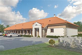 Projekt domu weselnego Murator UC33 Budynek usługowy