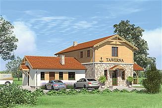 Projekt restauracji Murator UC29 Budynek usługowy