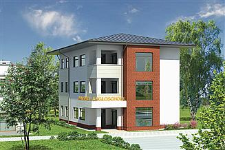 Projekt sklepu Murator U15a Budynek usługowy