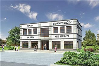 Projekt sklepu Murator U14c Budynek usługowy