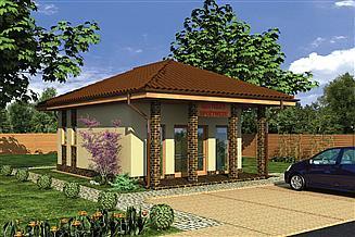 Projekt sklepu Murator UC49 Budynek usługowy