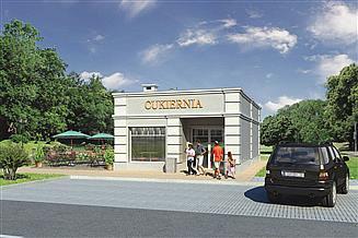 Projekt sklepu Murator U14 Budynek usługowy
