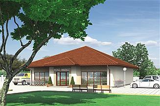 Projekt sklepu Murator UC05b Budynek usługowy
