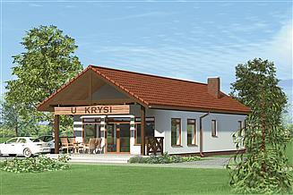 Projekt sklepu Murator U10a Budynek usługowy