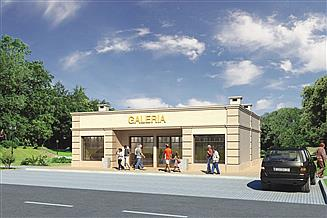 Projekt sklepu Murator U14a Budynek usługowy