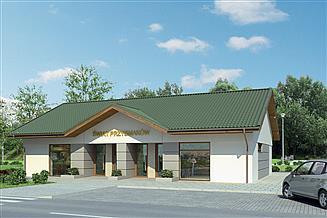 Projekt sklepu Murator U19b Budynek usługowy