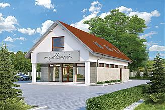 Projekt sklepu Murator U28 Budynek usługowy