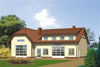 Projekt warsztatu Murator UC12 Budynek usługowy