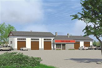 Projekt magazynu Murator U12 Budynek usługowy