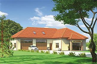 Projekt magazynu Murator UC35 Budynek usługowy
