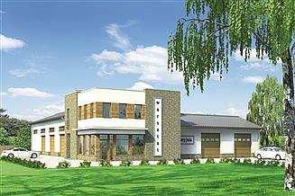 Projekt magazynu Murator U13 Budynek usługowy