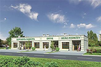 Projekt sklepu Murator U14b Budynek usługowy