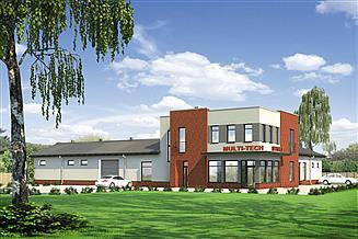 Projekt magazynu Murator U13a Budynek usługowy