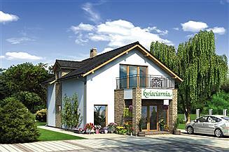 Projekt sklepu Murator UC48 Budynek usługowy z częścią mieszkalną