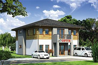 Projekt sklepu Murator UC42a Budynek usługowy z częścią mieszkalną