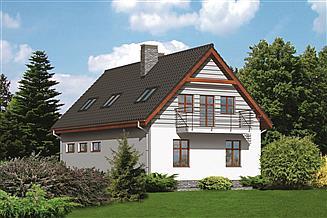 Projekt sklepu Murator U09 Budynek usługowy z częścią mieszkalną (podpiwniczony)