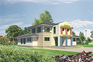 Projekt przedszkola Murator U17a Budynek usługowy z częścią mieszkalną (pkt opieki przedsz.)