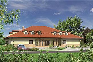 Projekt domu weselnego Murator U01 Budynek usługowy z pokojami gościnnymi