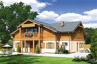 Projekt pensjonatu Murator UC19 Budynek usługowy z pokojami gościnnymi