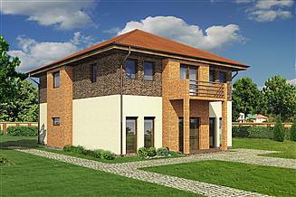 Projekt sklepu Murator UC42 Budynek usługowy z pokojami gościnnymi