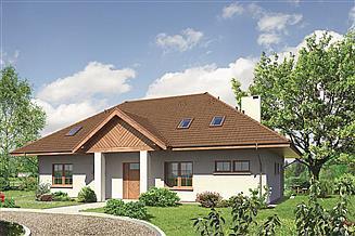 Projekt pensjonatu Murator U23 Budynek usługowy z pokojami gościnnymi