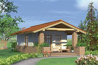 Projekt domu letniskowego Murator ML02 Calineczka (rekreacyjny)