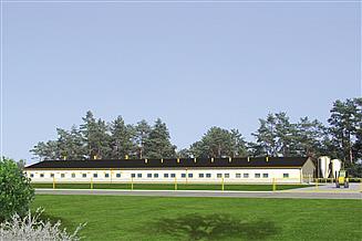 Projekt chlewni Murator CH09 Chlewnia na 168 loch, w cyklu otwartym, na rusztach