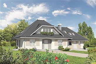 Projekt domu Murator M62c Dolina tęczy - wariant III (z usługą)