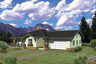 Projekt domu Murator C126a Dom vis-à-vis - wariant I