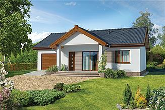 Projekt domu Murator C272b Filigranowy - wariant II