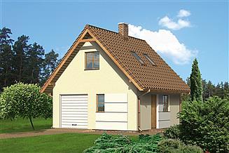 Projekt garażu Murator G27 Garaż z poddaszem i pomieszczeniem gospodarczym